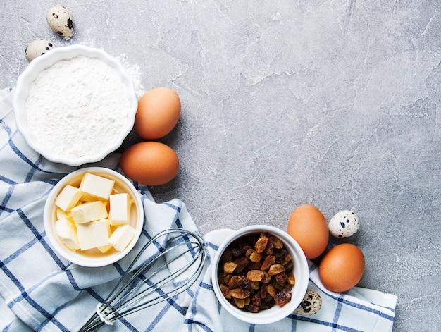 Ingredientes de panificação para pastelaria