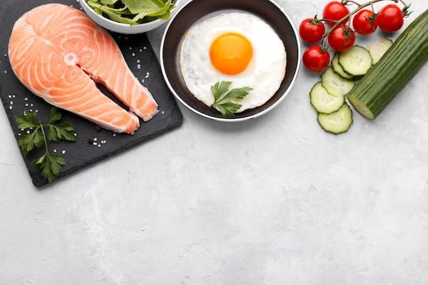 Ingredientes de refeições saudáveis