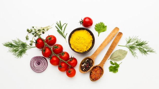 Ingredientes de tempero para cozinhar