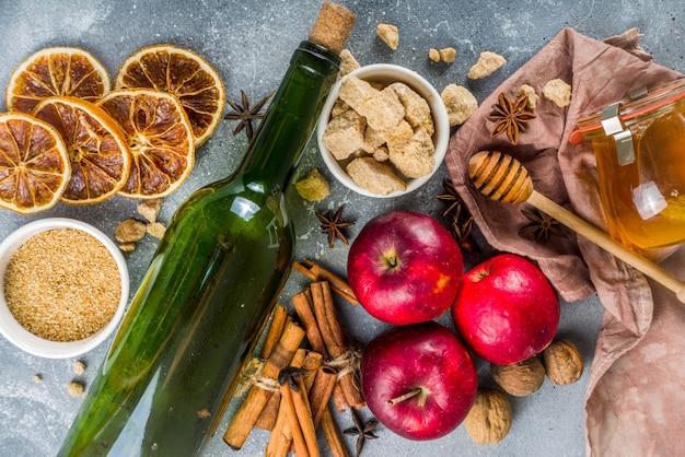 Ingredientes de vinho quente