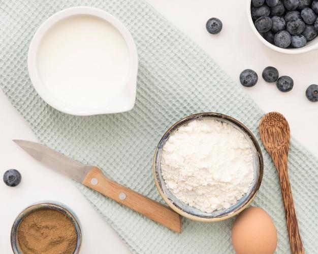 Ingredientes deliciosos para sobremesa