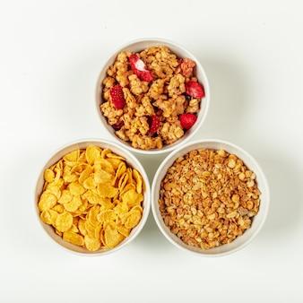 Ingredientes do café da manhã dieta saudável