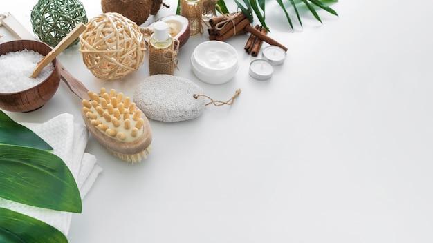 Ingredientes do espaço da cópia para cosméticos