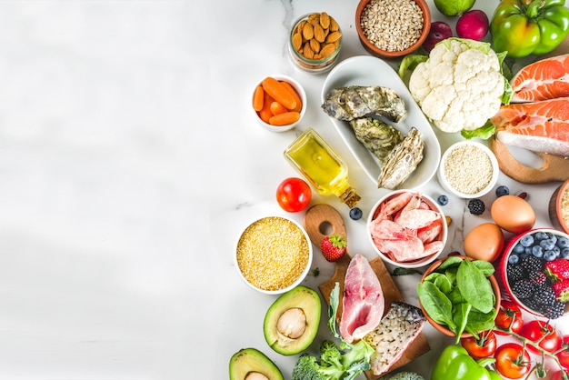 Ingredientes do plano de dieta pescetarian
