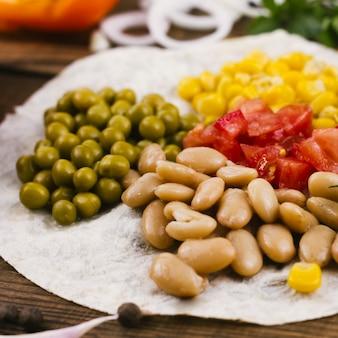 Ingredientes mexicanos coloridos