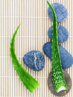 Ingredientes naturais do spa para o cuidado de esfrega e de pele.