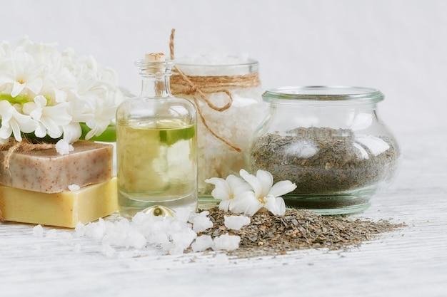 Ingredientes naturais para máscara facial e corporal ou esfoliante caseiro