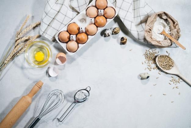 Ingredientes naturais para o cozimento