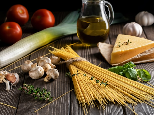 Ingredientes para a preparação de massas