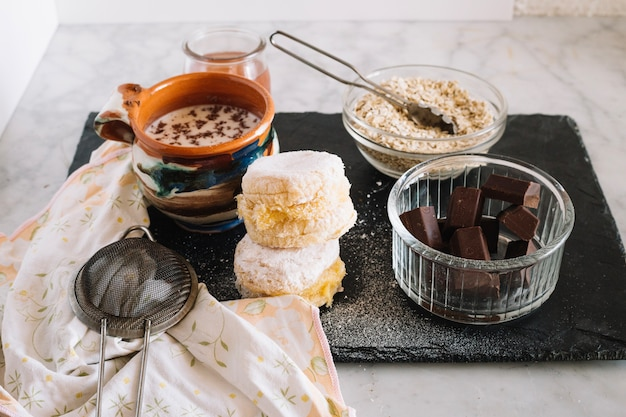 Ingredientes para a sobremesa