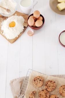 Ingredientes para assar biscoitos