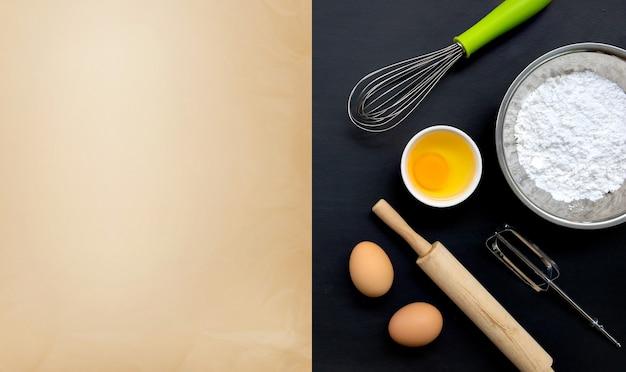Ingredientes para assar e cozinhar