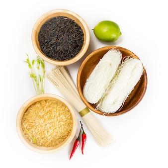 Ingredientes para cozinha asiática
