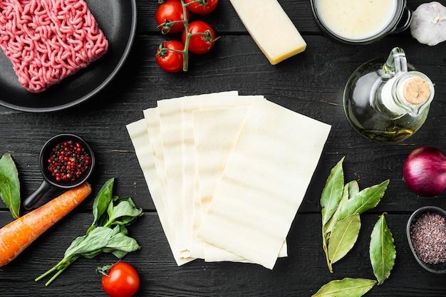Ingredientes para cozinhar lasanha italiana