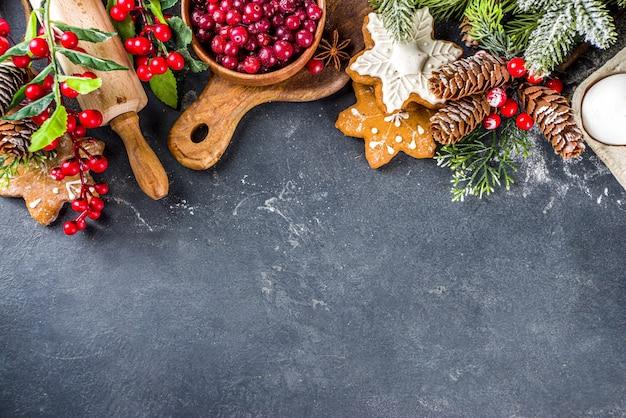 Ingredientes para cozinhar na época do natal