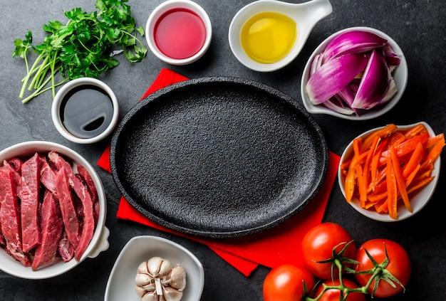 Ingredientes para cozinhar prato peruano