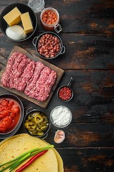 Ingredientes para cozinhar quesadillas