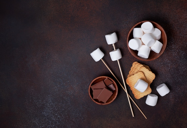 Ingredientes para cozinhar smore