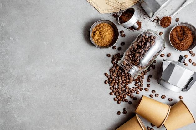 Ingredientes para fazer café lay plana
