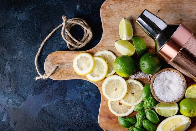 Ingredientes para fazer coquetel