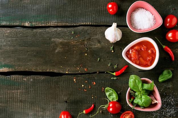 Ingredientes para fazer ketchup
