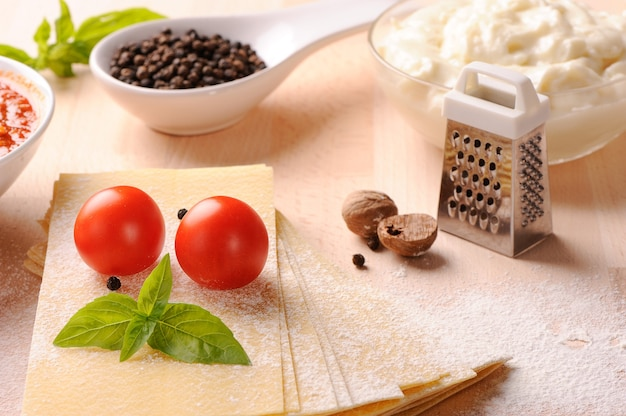 Ingredientes para lasanha
