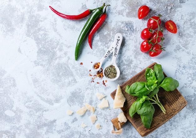 Ingredientes para molho de macarrão