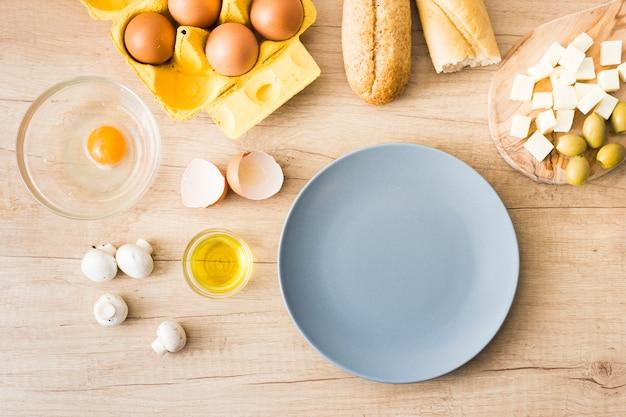 Ingredientes para o café da manhã