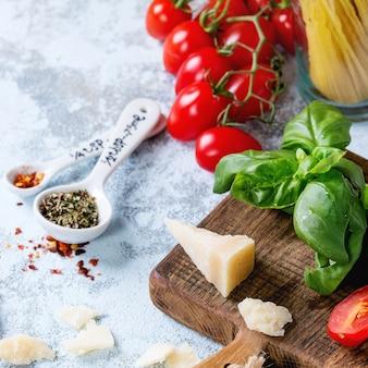 Ingredientes para o molho de espaguete