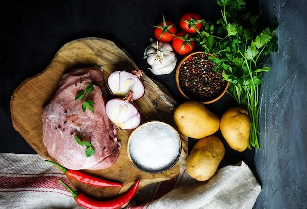 Ingredientes para o prato souzi