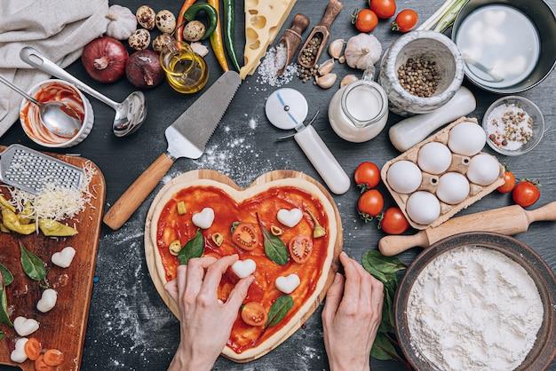 Ingredientes para pizza italiana clássica
