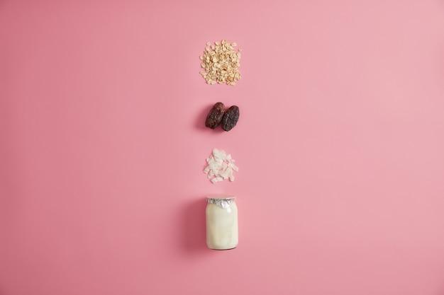 Ingredientes para preparar lanche rápido da manhã
