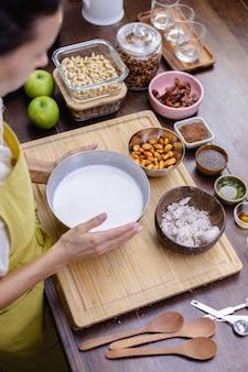 Ingredientes para pudim de chia