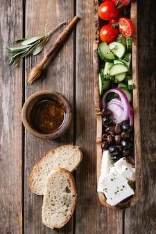 Ingredientes para salada grega