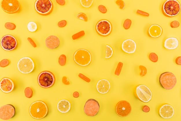 Ingredientes para suco e batidos frutas cítricas