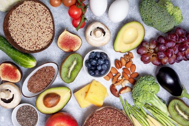 Ingredientes para uma dieta vegetariana