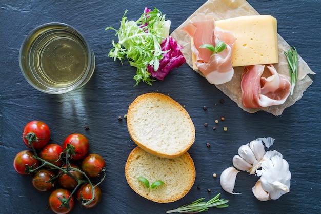 Ingredientes sanduíche