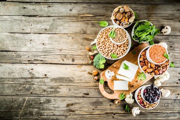 Ingredientes veganos para receita