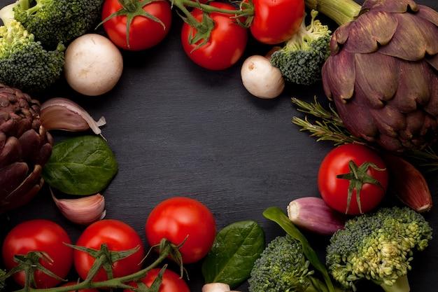 Ingridients orgânicos frescos de receitas mediterranian