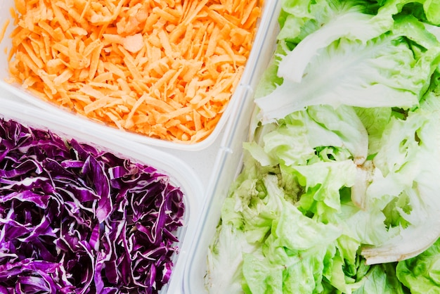 Ingridients salada