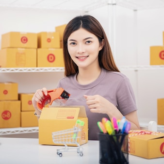 Inicie o empreendedor de pequenas empresas sme