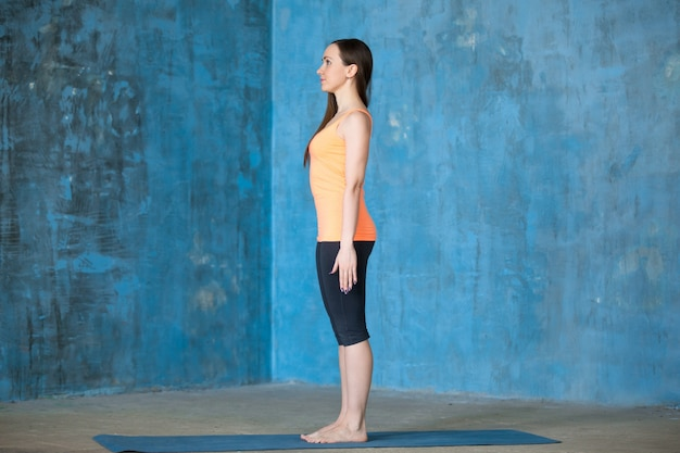 Início do treino de ioga