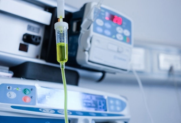 Injeção intravenosa no hospital