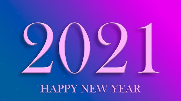 Inscrição 3d 2021 feliz ano novo