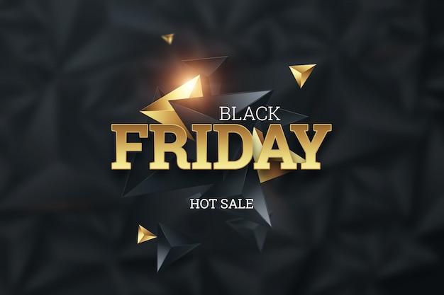 Inscrição black friday em um fundo escuro, venda quente