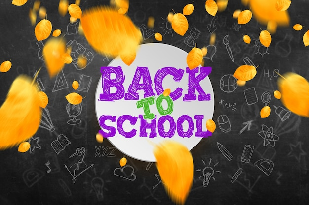 Inscrição de volta à escola, elementos de educação