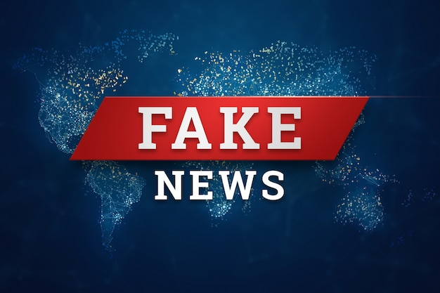 Inscrição é banner de notícias falsas