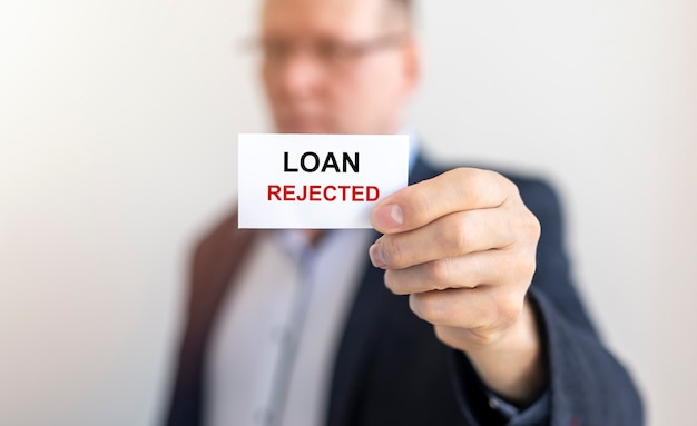 Inscrição em papel aprovada de empréstimo. conceito de empréstimos e empréstimos financeiros.