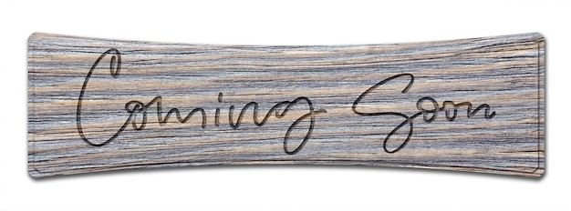 Inscrição manuscrita em uma placa de madeira