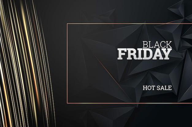 Inscrição sexta-feira negra sobre um fundo escuro